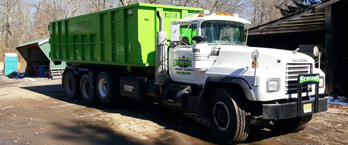 A Scarano dumpster rental of Green Brook, NJ