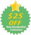 Save $25 with your first residential dumpster rental